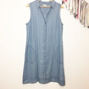 J. Jill denim chambray shirt dress medium